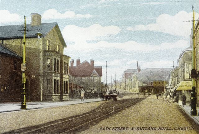 Looking North Bath Street, Ilkeston, c 1920