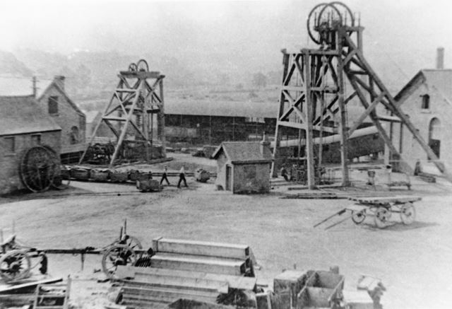View from the North of Denby Colliery, Denby, 1898