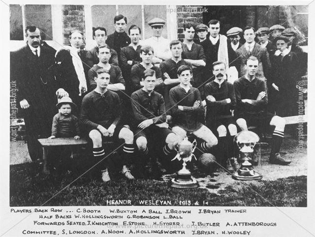 Heanor Wesleyan Football Club, Heanor, 1913-14