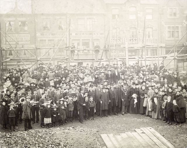 Laying Foundation Stone, Central Methodist Church, Bath Street, Ilkeston, 1896