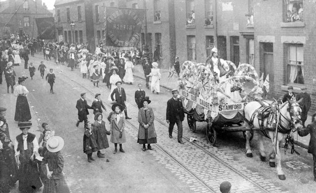 Lifeboat Sunday Parade, Cotmanhay Road, Ilkeston, 1909