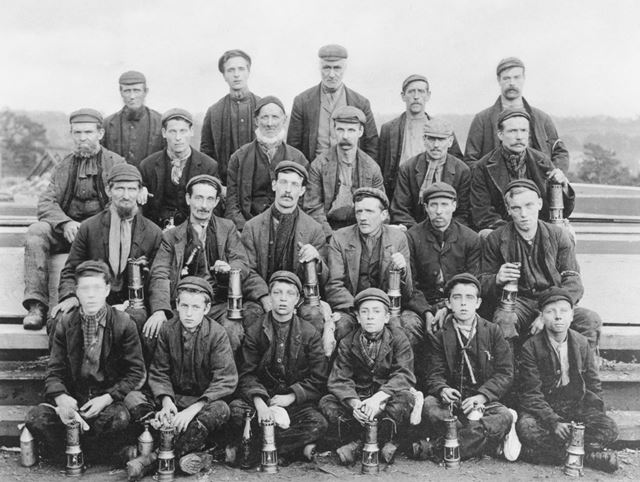 Workmen and Child Workers, Denby Colliery, 1898