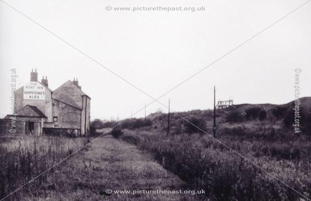 The Boat Inn and Pinxton Wharf, Pinxton, 1950s