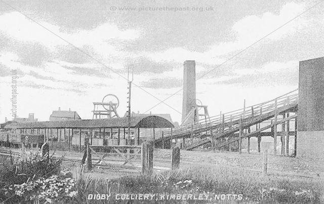 Digby Colliery, Gilthill, Kimberley, c 1910
