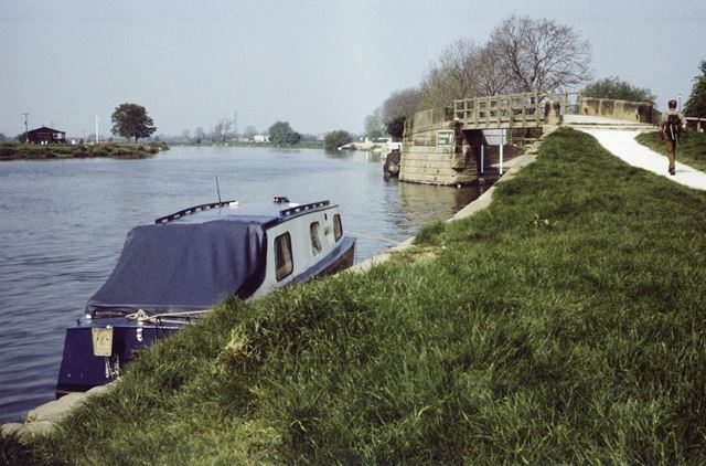 River Trent at Trent Lock, Long Eaton, 1987