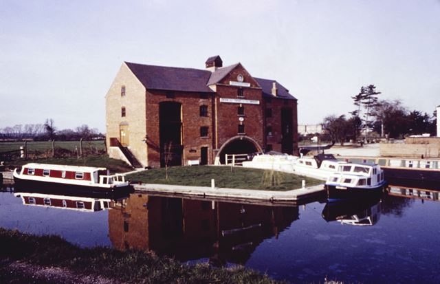 The Clock Warehouse on the Trent and Mersey Canal, Shardlow, c 1980