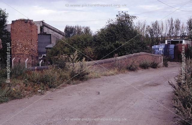 Bridge over the Nottingham Canal at Glasshouse Yard, Awsworth, 1990