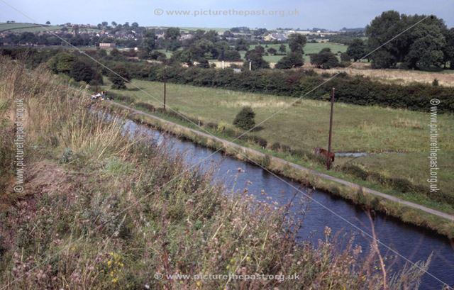 View looking across the Erewash Valley towards Trowell, Stanton Works, 1978
