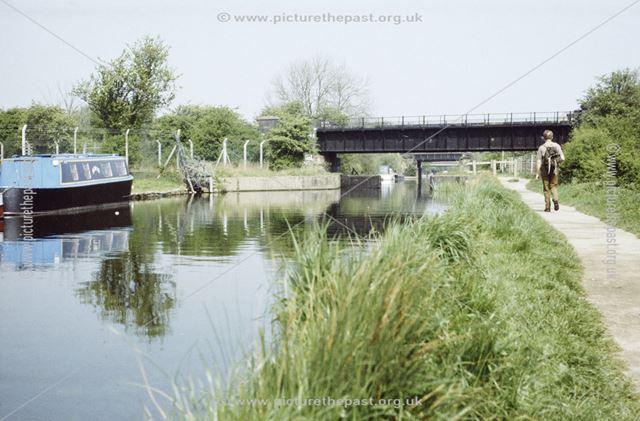 Railway bridge over the Erewash Canal near the Sheet Stores, Long Eaton, 1987