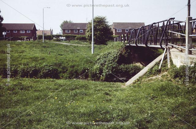 Footbridge over the River Erewash near Bennett Street, Sandiacre, 1987