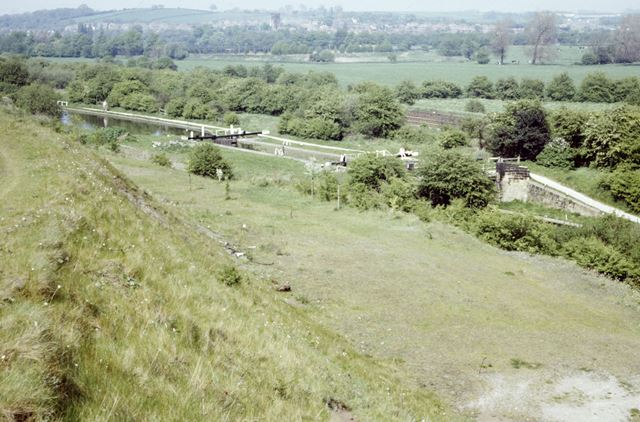 View looking across the Erewash Valley towards Trowell, Stanton Works, 1987