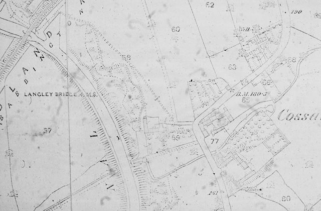 Map showing Cossall Marsh area, Cossall, c 1880s ?