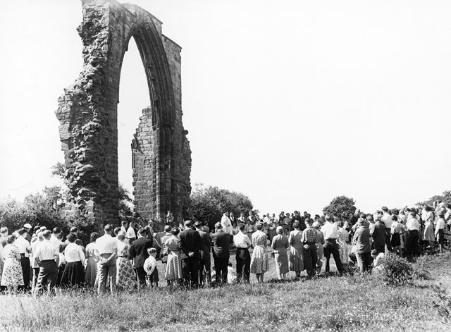 Roman Catholic pilgrimage at Dale Abbey, Dale, 1957