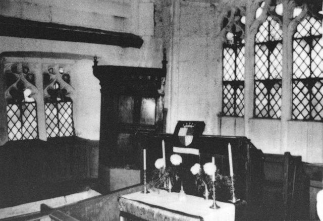 Interior of All Saints Church, Dale, mid-1970s ?