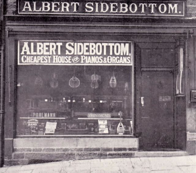 Albert Sidebottom Shop, 22 High Street West, Glossop, 1904