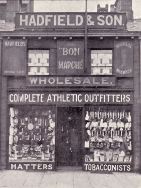 Hadfield and Son Shop, 15 High Street West, Glossop, 1904
