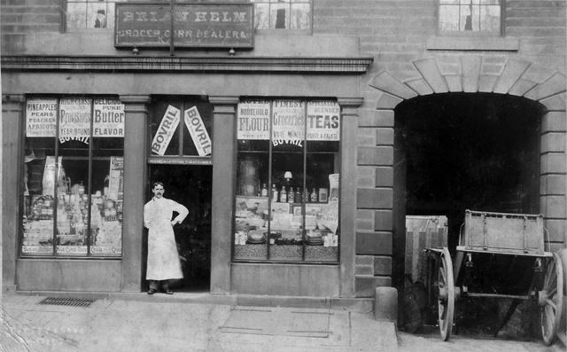 Brian Helm, High Street East, Glossop, c 1910