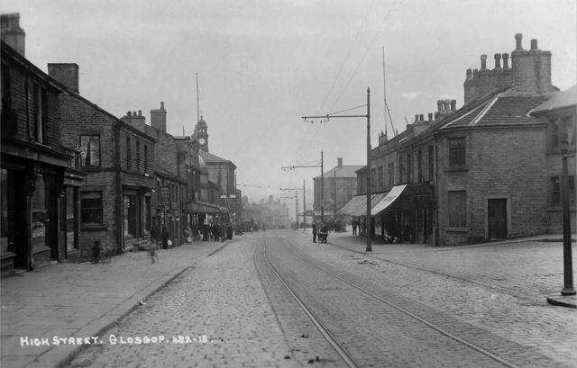 Street View, High Street East, Glossop, c 1905