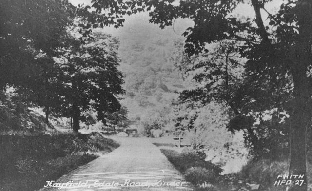Edale Road View to Colewell Clough, Hayfield, c 1920s ?