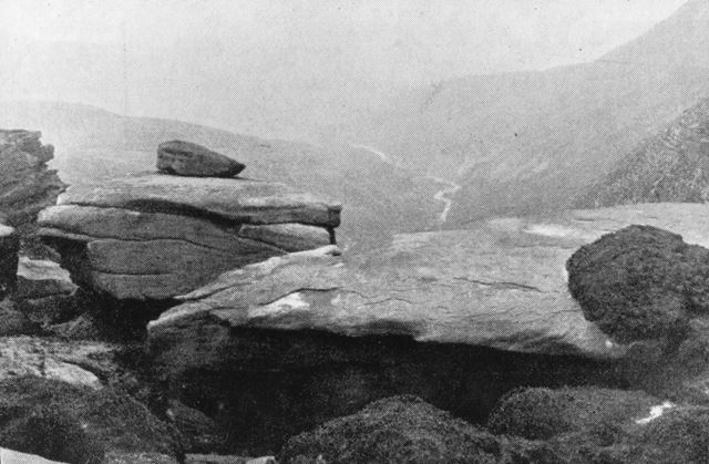 Valley of the Downfall Looking West from Jacob's Ladder, near Edale, c 1920s ?