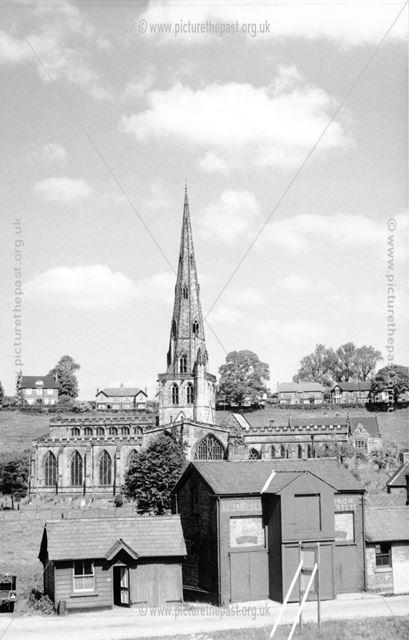 Ashbourne Railway Station and St Oswald's Church, Ashbourne
