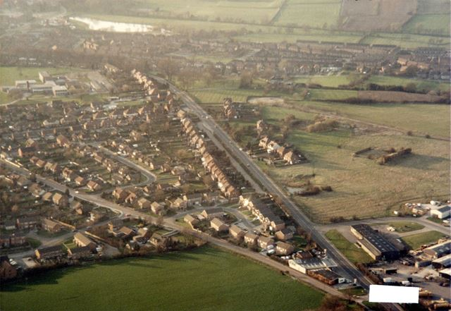 Aerial Photograph, Derby Road and Queen Elizabeth Grammar School - Lower Site