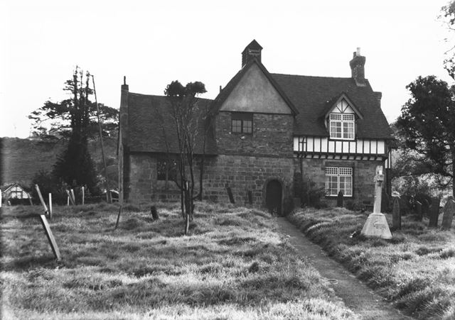 All Saints' Church, south side stairs, Dale Abbey, c 1960?