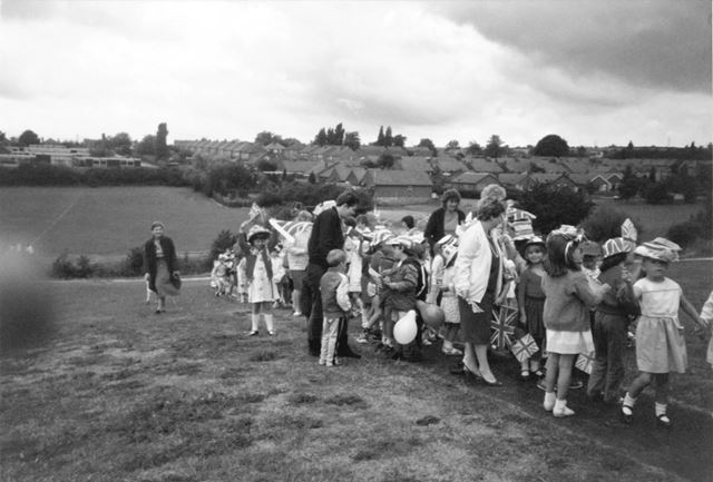 Children of Ashbrook Infants School celebrate the Royal Wedding of Prince Andrew and Sarah Ferguson