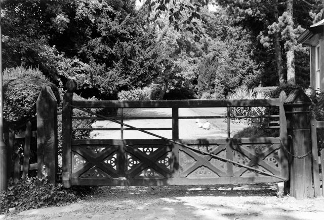The gates to the Grange, Ockbrook School, Moravian Settlement