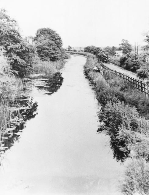 Canal at Borrowash, Looking Towards Draycott, 1956