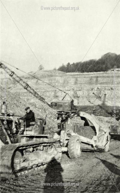 Shipley Hall opencast coal site, winter 1947-48