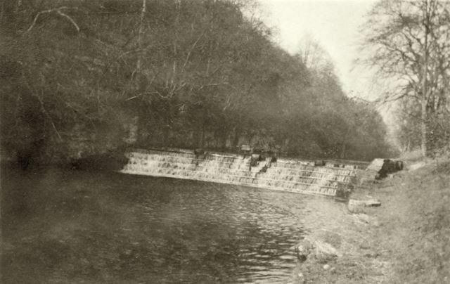 Weir at Lathkill Dale, 1948