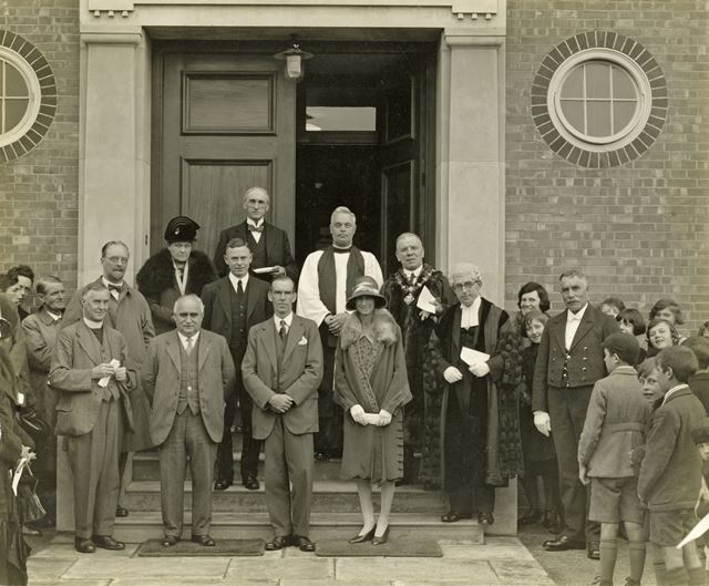 Cavendish School Opening, Cavendish Road, Ilkeston, 1929