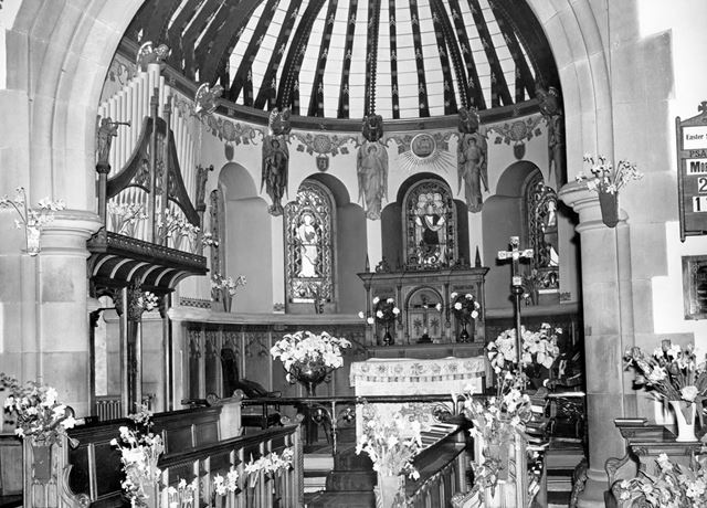 Christ Church, burbage, Buxton - Decorated with Memorial lilies for Easter
