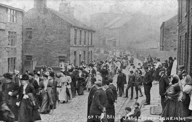 'Re-opening of the Bells procession', Hayfield