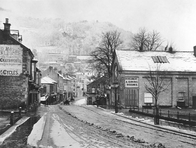 View of part of Matlock Bath, with Boden's Refreshment rooms, now demolished