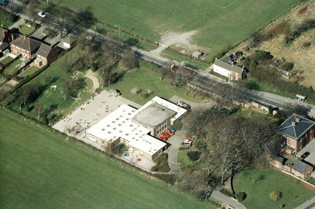 An aerial view of the school, Mastin Moor