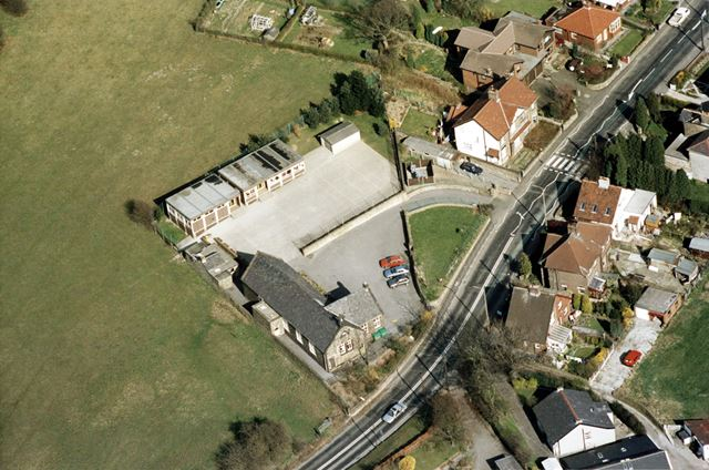 An aerial view of Strines, near to New Mills