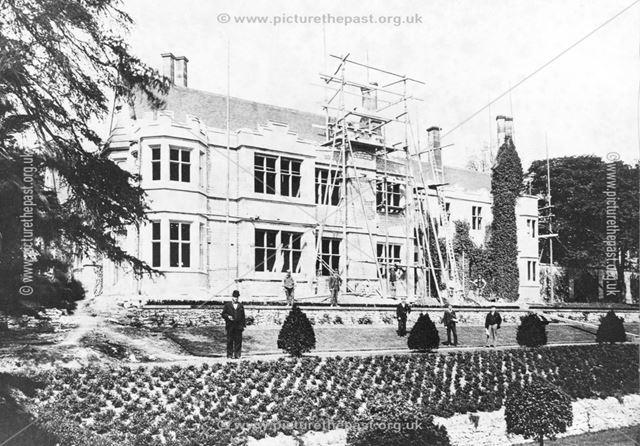 Thornbridge Hall, south east corner during improvements