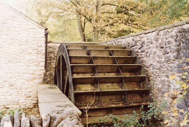 An undershot water wheel at the Meal Mill, Millers Dale