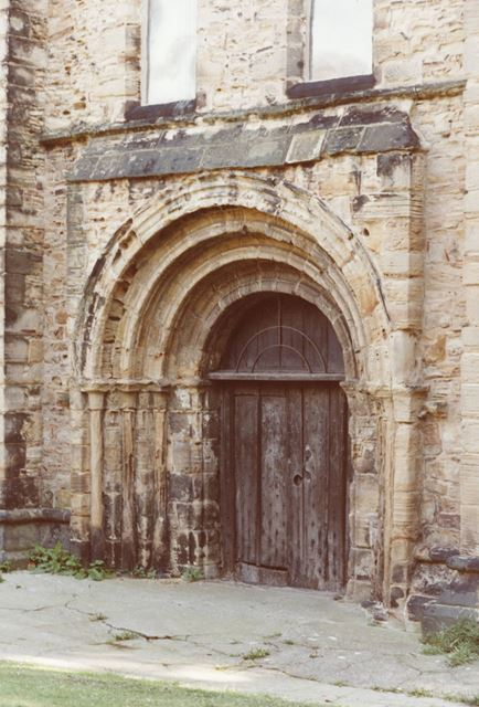 St Peter and St Paul's Church Norman doorway, Eckington