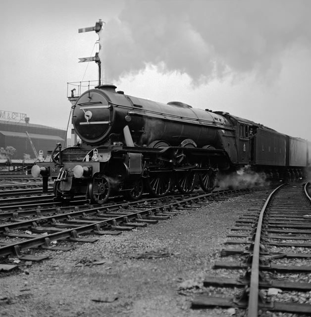 The 'Flying Scotsman' at Chesterfield, (on its return from America ?)
