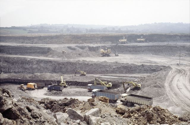 Meadow Gate Opencast Coal Mining site - pit and draglines