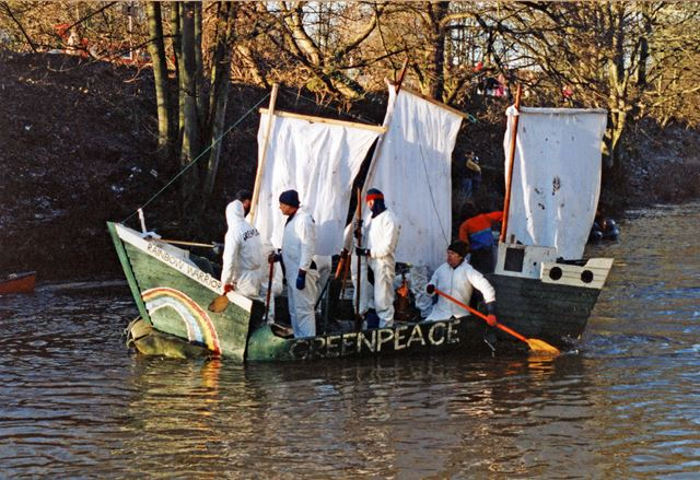Annual raft race