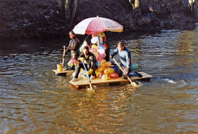 Annual raft race
