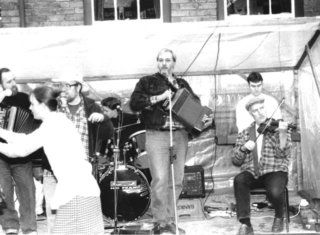 The band plays at Fritchley Festival