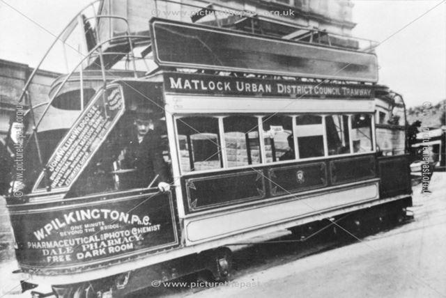 Matlock Tram at the top of Rutland Street