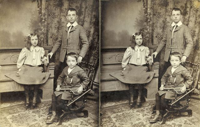 Hansen family including Harry (standing) and Elsie