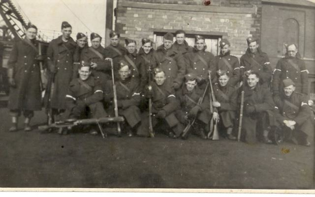 Home Guard at Holmewood Colliery, 1941