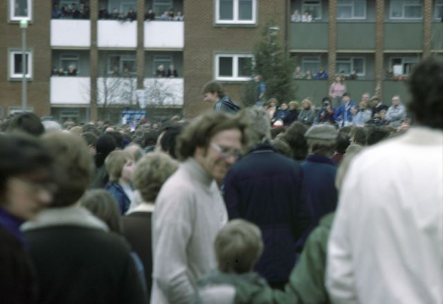 Start of Shrovetide Football event, 1984